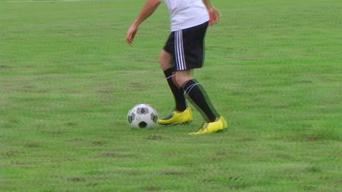 Soccer Player Dribbling 03 stock footage