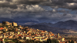 Italian Old Town Timelapse HDR stock footage