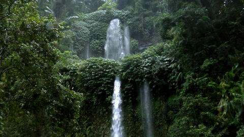 Two Rain Forrest Waterfall stock footage
