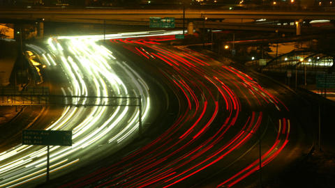 Highway At Night Timelapse 03 stock footage
