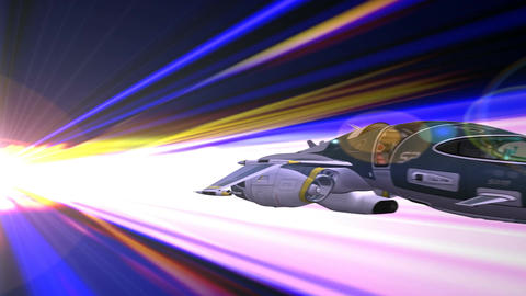 Space Ship in Hyper Space Animation