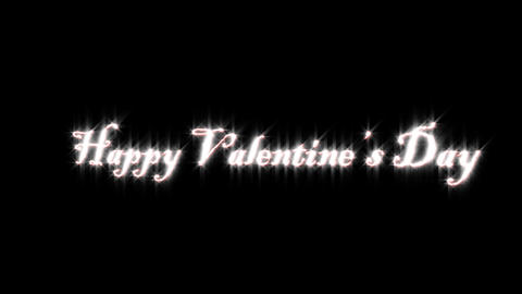 Title Of Valentine stock footage