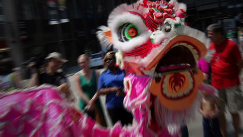 Chinese Dragon Dance Footage