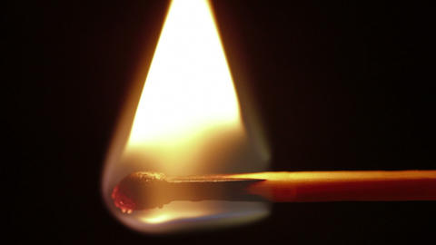 matchstick igniting macro Footage