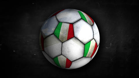 Italy Ball Rotation Looping Alpha Matte 4k stock footage