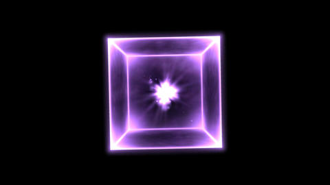 Rotating Glowing Cube Animation - Loop Rainbow Animation