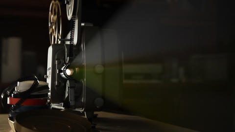Vintage 8mm Film Projector stock footage