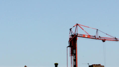 Tower Crane Movement Closer stock footage