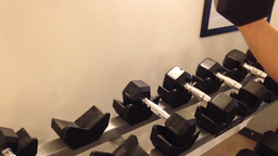dumbbell exercise Footage