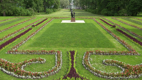 Sunny Meadow. Pushkin. Catherine Park. Tsarskoye S stock footage
