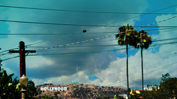 Hollywood Sign Timelapse 3 Footage