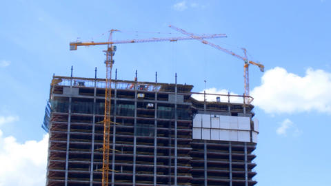 construction of a multistory building Footage