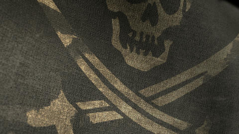 pirate flag closeup render HD Animation
