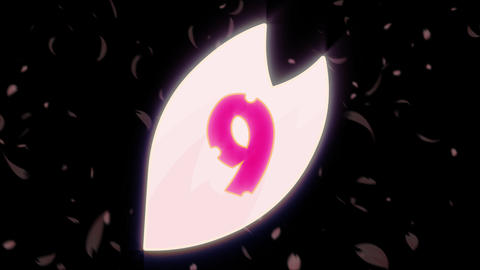 Sakura Count Down 01 Animation