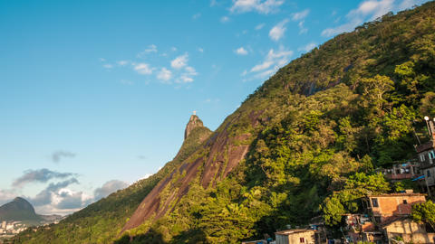 Sunrise Time-lapse Of The Hills Behind Rio And Chr stock footage