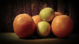 Artistic Presentation Of Oranges HD Stock Footage stock footage