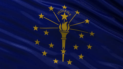 US state flag of Indiana seamless loop Animation