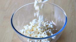 Popcorn In The Bowl - Slow Motion stock footage