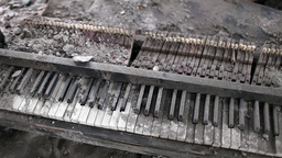 Broken Piano Music Of War stock footage