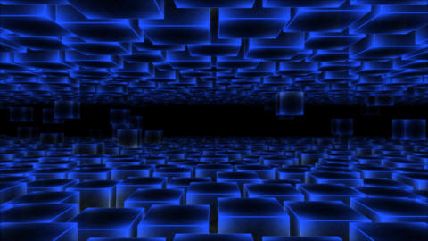 Abstract Moving Blocks - Loop Blue stock footage