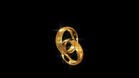 Two Golden Rings. Engagement. Looping stock footage
