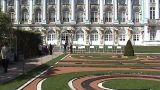 Palace In St. Petersburg stock footage
