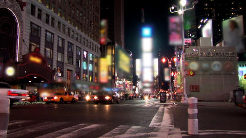 New York Timelapse Blurred stock footage