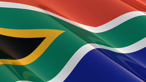Seamless Flag Of South Africa stock footage