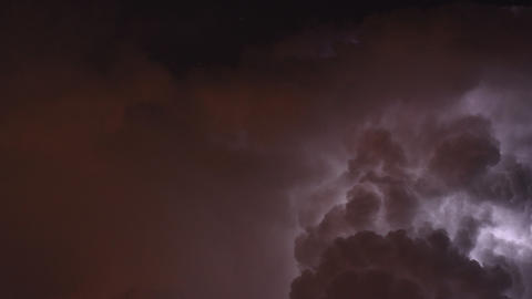 Time lapse of severe thunderstorm ビデオ