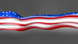 Abstract Flowing Flag. USA stock footage
