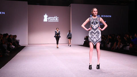 Catwalk at EcoChic Design Award sustainable fashio Footage