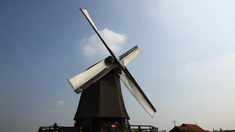 Windmills In Holland stock footage