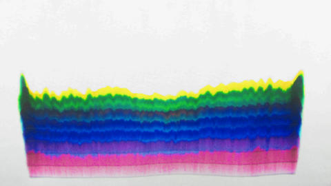Science Project: Ink Chromatography On Paper Time  stock footage