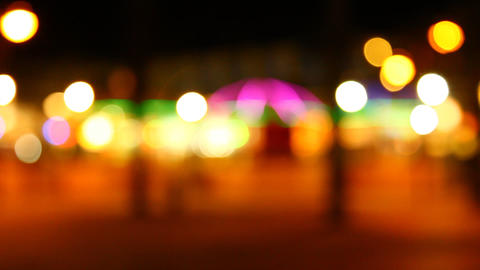 Decorative Neon Lights In Soft Focus stock footage