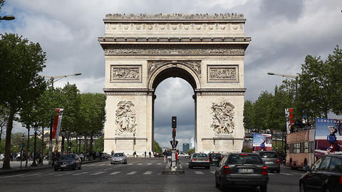 Arch Of Triumph Paris, France, Traffic HD stock footage