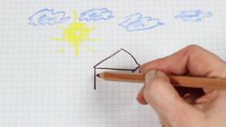 Child's drawing - time lapse Footage