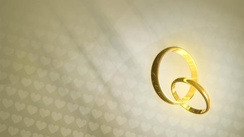 Wedding Rings HD Loop Animation