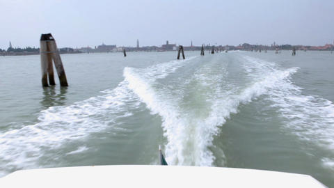 Back view from passenger vessel Footage
