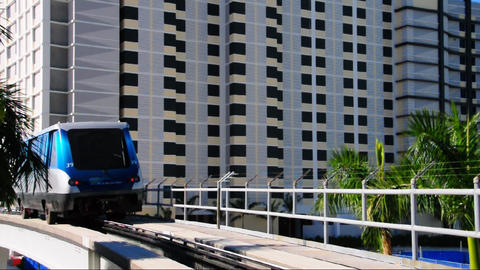 Metromover Train In Miami stock footage