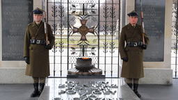 Warsaw. Soldiers at The Tomb of the Unknown Soldie Footage