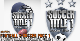 Soccer & Football Pack 1 stock footage