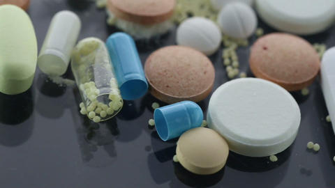 Drug Addiction Concept. Macro Film Of Powder By Op stock footage