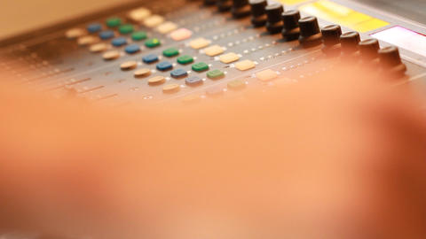 Mixing Board In Recording Studio stock footage