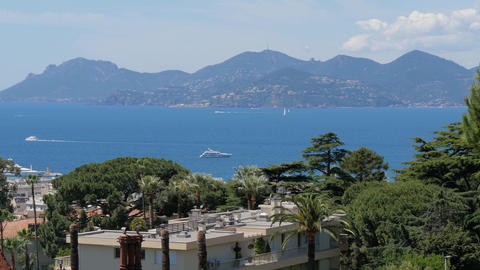French Riviera, Cannes, Seascape stock footage