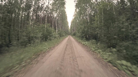 Racing down country road Footage