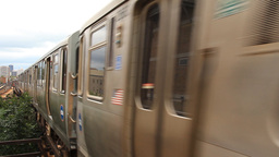 Chicago L Train stock footage