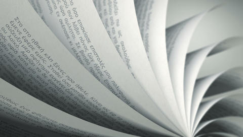 Turning Pages (Loop) Greek Book Animation