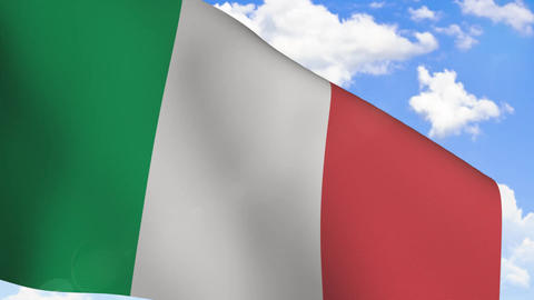 Waving Flag Of Italy stock footage