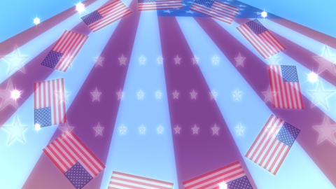 USA Flag Flares Animation