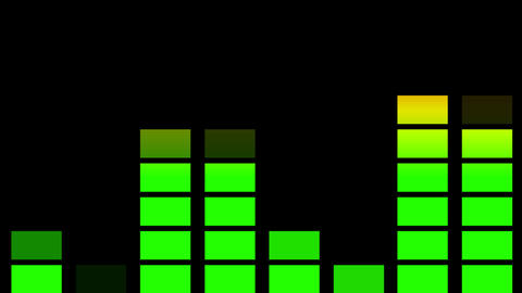 Audio Equaliser Animation stock footage